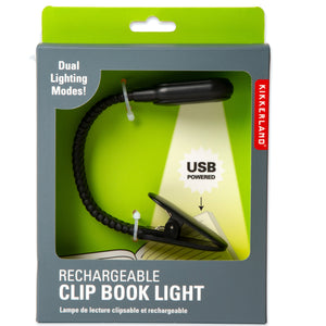 Rechargeable Clip Book Light