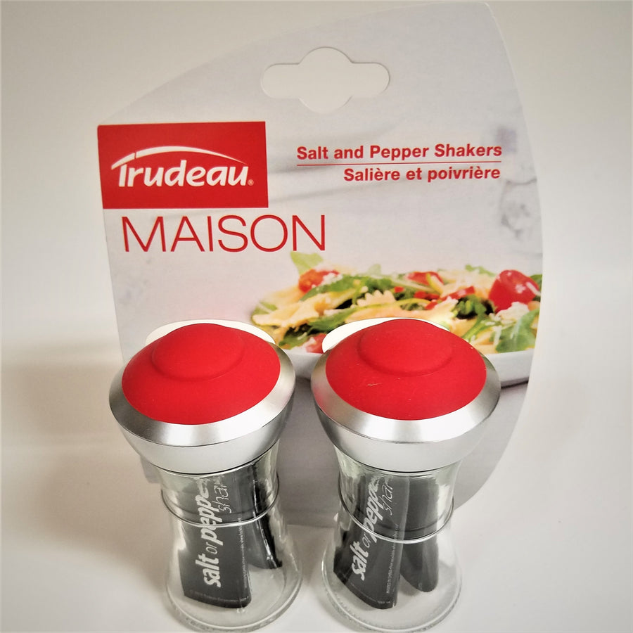 Silicone Salt and Pepper Shakers with Pop-Up Tops