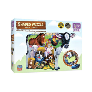 Farm Friends Shaped Puzzle