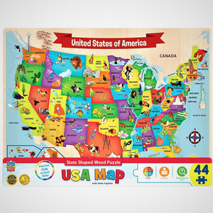 Wooden United State-Shaped Puzzle