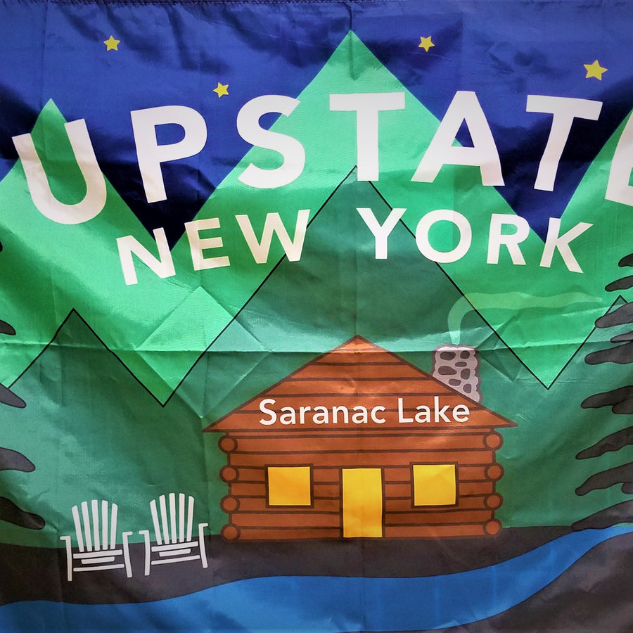 Upstate New York Saranac Lake Flag