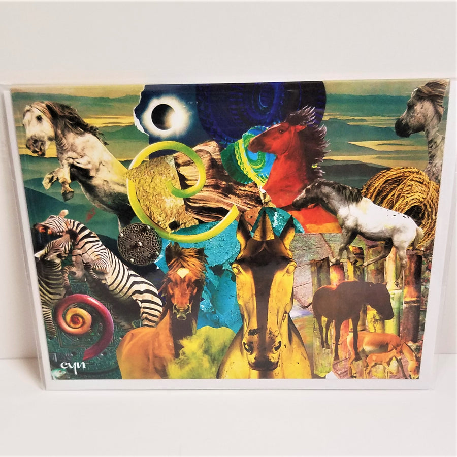 Horse Collage Card from Cindy Ayres