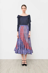 AGYNESS FLORAL SKIRT