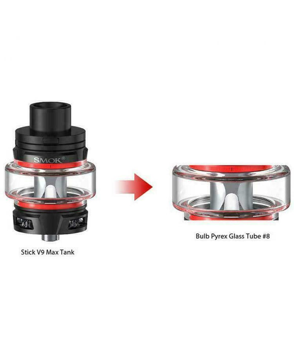 Glass for SMOK V9 Max Bubble Fatboy Replacemnt for 2ml UK Vape Seller