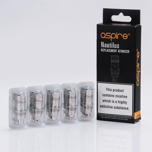 5 x Aspire BVC REPLACEMENT Atomizer coils for Nautilus 2 tank 0.7 Ohms Vertical