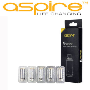 Aspire Breeze Replacement Coils | 0.6Ω U-Tech | Vaping UK | 100% Authentic