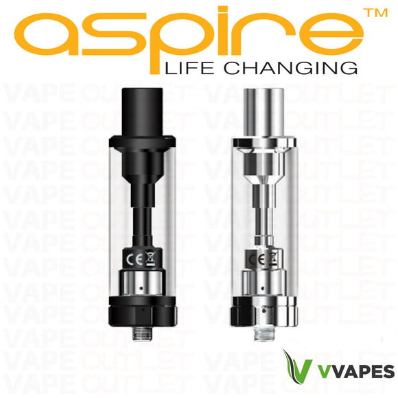 Genuine Aspire K2 Tank Clearomiser Atomizer Glass black silver authentic W/CODE