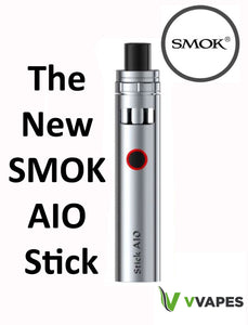 Authentic SMOK Stick AIO Vape Pen ECig Starter Kit Silver 1600 Mah Genuine Coils