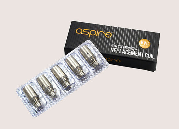5 x Aspire BVC Coils REPLACEMENT for K1, ET, ETS, CE5 & CE5-S 1.8 Ohms Vertical