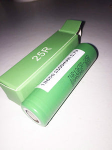 New SAMSUNG 25R Genuine IMR Battery 18650 2500mah Flattop 25Amp Continuous Disch