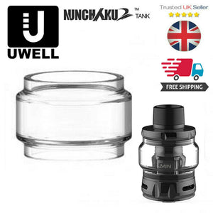 GLASS for UWELL NUNCHAKU 2 Replacement FatBoy BUBBLE  extention Bulb Expansion