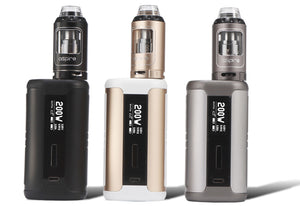 Aspire Speeder 200w Kit Vaping Sub Ohm Athos Tank Coils A3/A5 Powerful 200w MOD