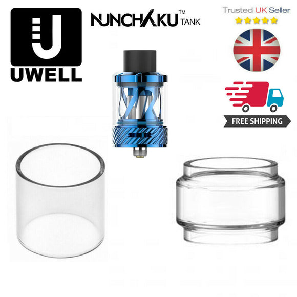 GLASS for UWELL NUNCHAKU Replacement FatBoy BUBBLE extention Expansion Straight