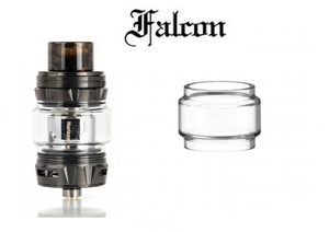 Glass for Horizontech Falcon King Straight Bubble 2ml Vape Tank Replacement Tube