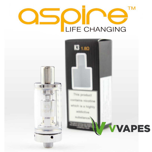 Genuine Aspire K3 Clearomiser Atomizer Tank Cheap nautilus replacement 1.8Ω Coil