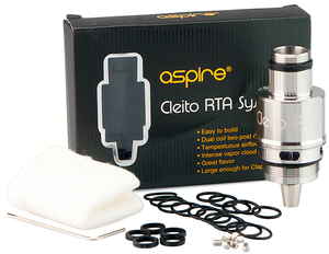 Aspire Cleito RTA System Kit for Tank Authentic Genuine Re-buildable Glass Coils