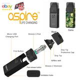 Cheap Aspire Breeze 2 Kit with free postage / Spares Coils / Pod / Tip / Seals 100% Genuine UK