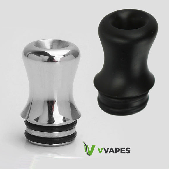 510 Drip Tip Tips Mouthpieces SMOK TFV8 BABY BEAST TANK - Silver or Black Finish