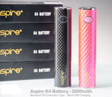 Aspire K4 Battery Replacement Only 2000mah Authentic Pink Black 510 Thread