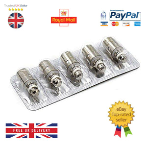BVC Coils REPLACEMENT for K1 K2 ET ET-S CE5 CE5-S 1.6 1.8 Ohms COIL Heads Vape