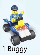 Load image into Gallery viewer, Police vehicle - 2 in 1 - Building Block Set