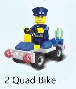 Police vehicle - 2 in 1 - Building Block Set