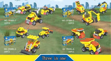Load image into Gallery viewer, Construction Vehicles - 3 in 1 - Building Block Set