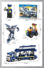 Load image into Gallery viewer, Police Mobile Command Centre & Quadbike or Transformer Robot - Building Block Set