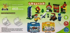 468 piece Creator Building Block Set in Storage Case