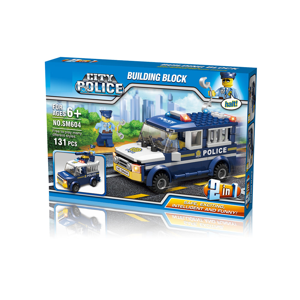 Police Truck or Jail Van - 2 in 1 Block Set