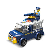 Load image into Gallery viewer, Police Truck or Jail Van - 2 in 1 Block Set