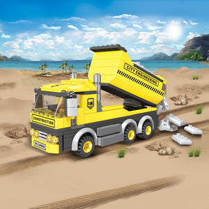 Tipping Dump Truck Construction Building Block Set