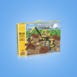 Forklift & Log Loader Construction Building Block Set