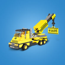 Load image into Gallery viewer, Crane & Water Truck Construction Series Building Block Set