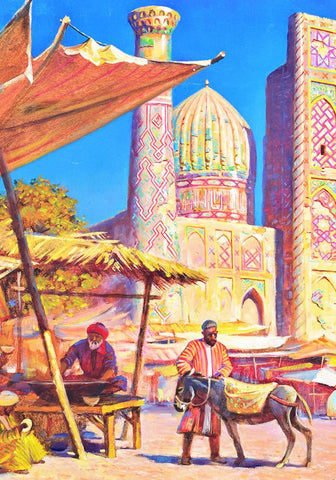 Samarkand City Painting Kit - ThePaintingSociety.com