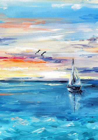 The Calm Sea Painting Kit - ThePaintingSociety.com