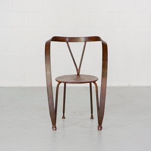 Ribbon Metal Dining Chair Set