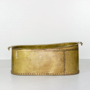 BRASS TUB WITH METAL STARS