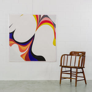 MID-CENTURY MODERN COLOURFUL ABSTRACT ARTWORK
