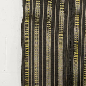 WOVEN CHARCOAL AND YELLOW CLOTH