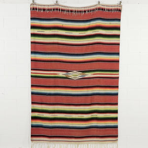 SALTILLO SERAPE IN TERRACOTTA