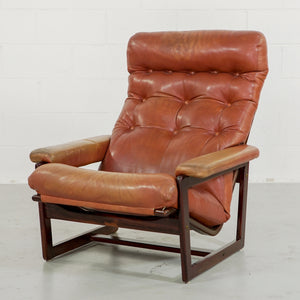 DANISH ROSEWOOD CHAIR IN ORIGINAL UPHOLSTERY