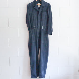 WASHED BLUE COTTON BOILERSUIT MEDIUM