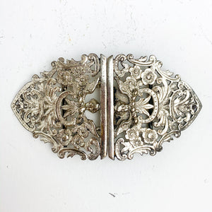 TWIN CLASP ANGEL BELT BUCKLE