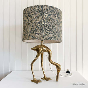 BRASS BIRD TABLE LAMP
