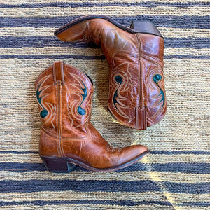 WESTERN PEEWEE CODE WEST BOOTS SIZE 7.5