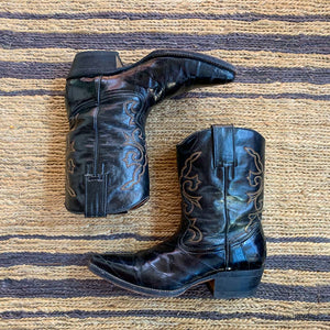 WESTERN EEL SKIN ACME BOOTS SIZE 9