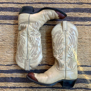 WESTERN LIZARD TIP JUSTIN BOOTS SIZE 7