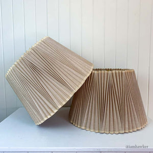 ACCORDIAN PLEAT LAMPSHADES 2SET