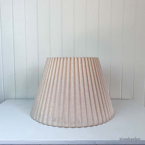 FLUTED PLEATED LAMPSHADE